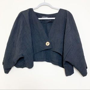 VTG Jean Marc Philippe Cropped Crinkle Cardigan